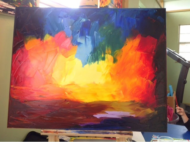 Faith Hope And Art Painting A Night Scene
