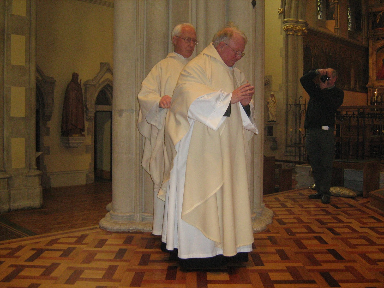 After the Laying-on of Hands he was invested with his stole and