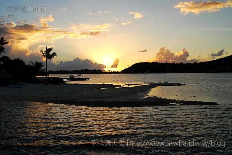 【大溪地Tahiti天堂之旅】大溪地的南太平洋夕陽美景~首部曲