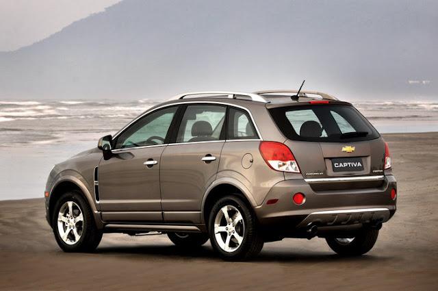 Nova Chevrolet Captiva 2011 - lanternas traseiras