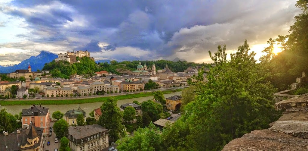 The fortress Hohensalzburg and the Old City. Todd Felton: #WorkAbroadBecause you will never be the same