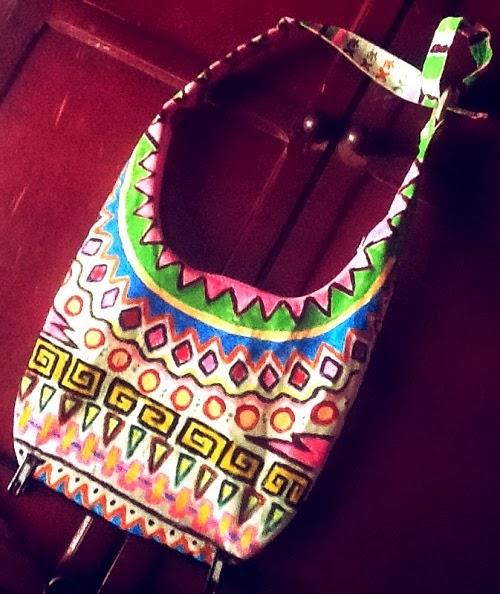 como customizar bolsa com estampa étnica