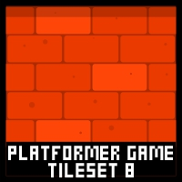 City Platformer Game Tile Set