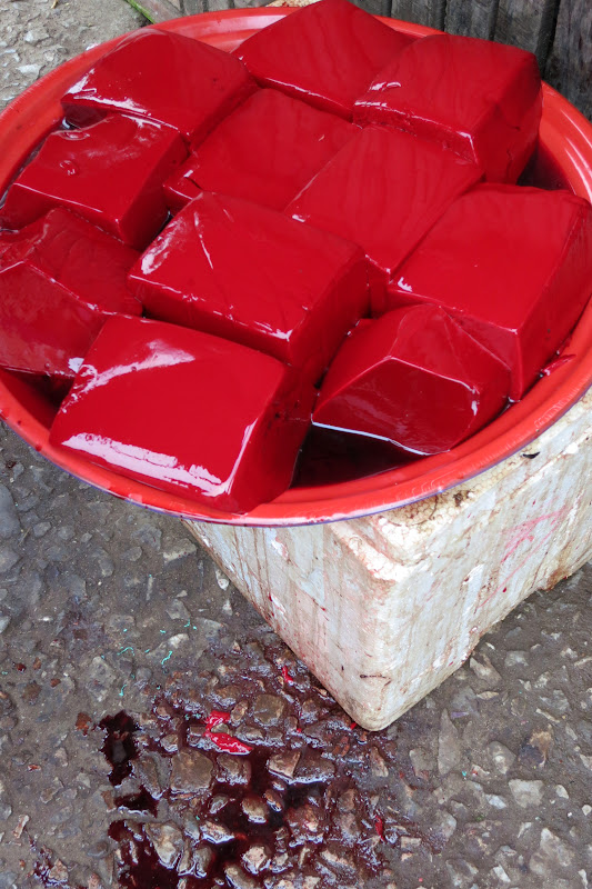 Congealed blood