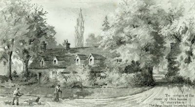 """King's Farm in 1852. "" From A Record of Shelford Parva by Fanny Wale P26"