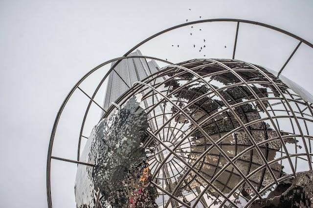 Globe Sculpture at Columbus Circle