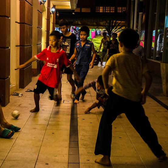 football playing in Bangkok