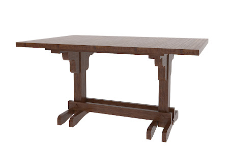 "56"" x 40"" Mayfair Table in Twilight Oak"