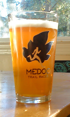 Medoc Trail Race pint glass