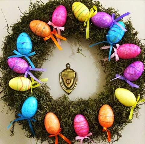 How I Made My Super Cheap Easter Egg Wreath From Dollar Tree Eggs