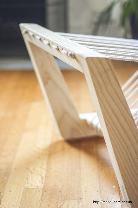 Способ фиксации натяжной мягкой части кресла