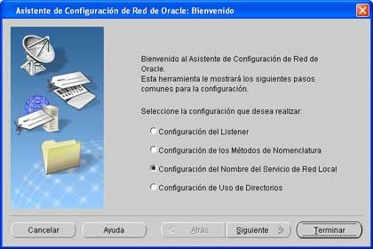 Configuración del Listener, Nombre de red, en Oracle Client 11g y Windows XP