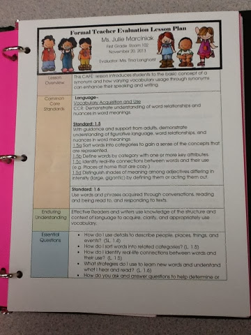 First Grade Critter Cafe Teacher Evaluation Day