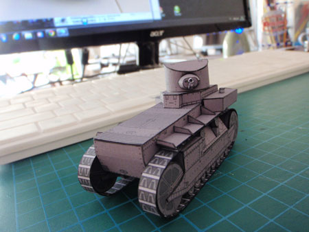 T1 Cunningham Papercraft Light Tank