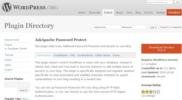 AskApache Password Protect Plugin