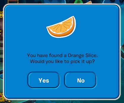 Club Penguin Orange Slice Pin
