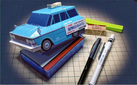 Japanese Loudspeaker Van Papercraft