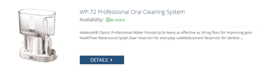 wp 72 professional oral cleaning system