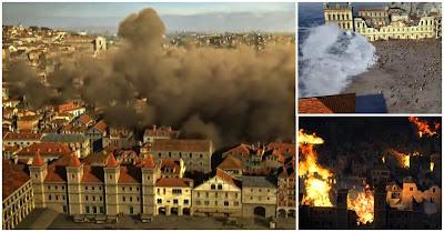 O terramoto, maremoto e incêndio de 1755 que destruiram Lisboa por completo