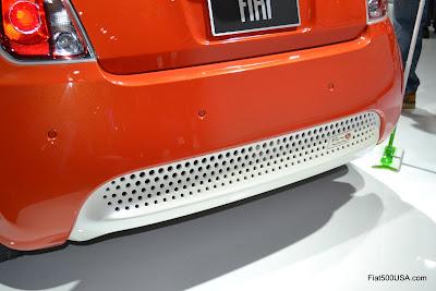 Fiat 500e rear diffuser