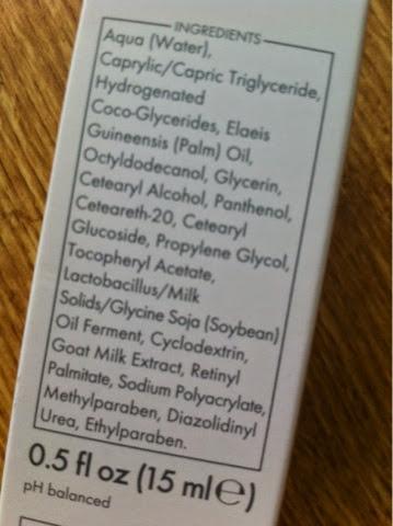 ingredientes contorno de ojos leche de cabra ziaja
