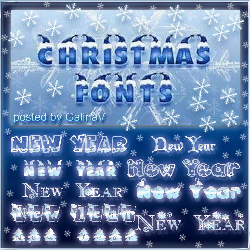 Рождественские и новогодние шрифты для Photoshop