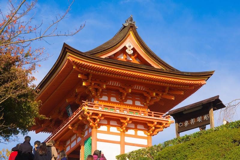 京都 紅葉 清水寺 写真1