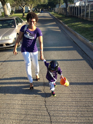 mommy daughter baltimore ravens football halloween costume