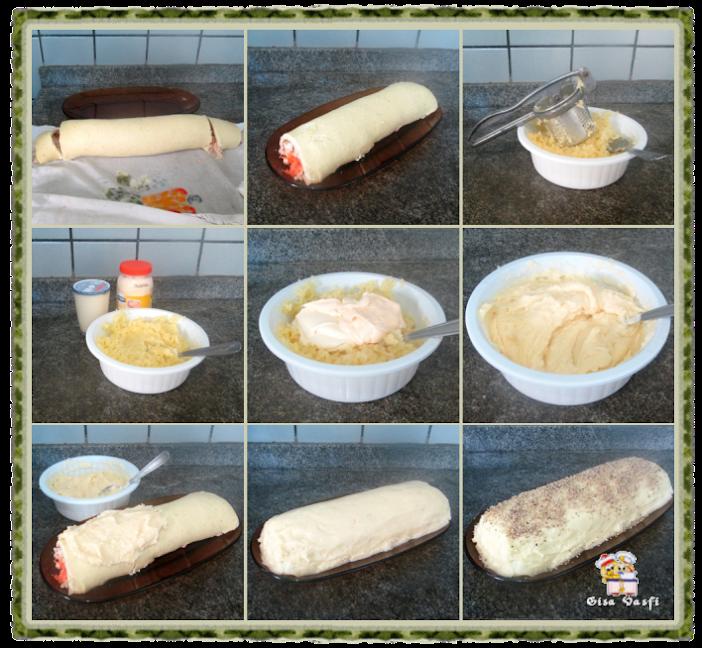 Cobertura de batata e maionese