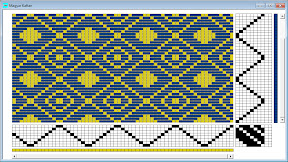 Weaving draft for magyar kaftan