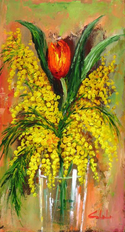 Artecarlacolombo opere ad olio for Dipinti ad olio fiori