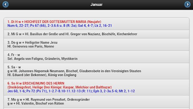 Liturgischer Kalender Test 2013 Tage