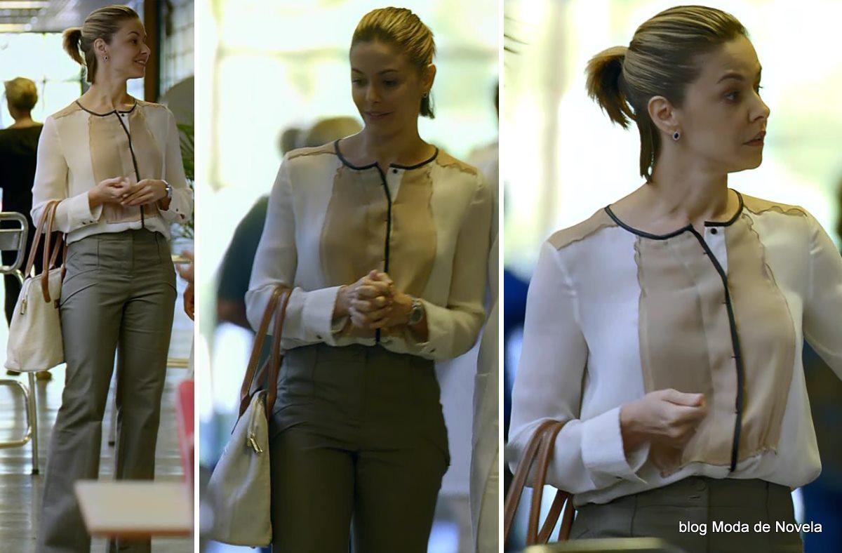 moda da novela Em Família - look da Silvia dia 30 de abril