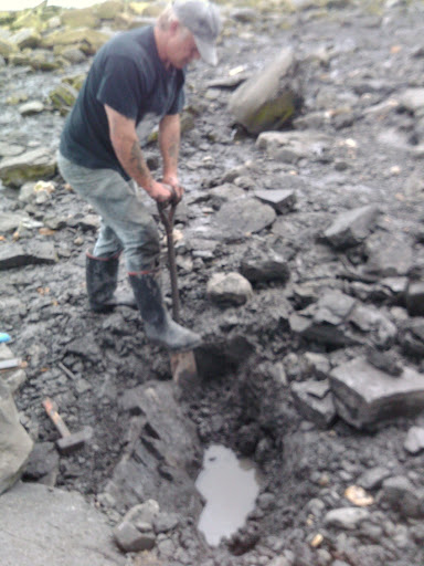 Paddy Howe Digging out the Ichthyosaur