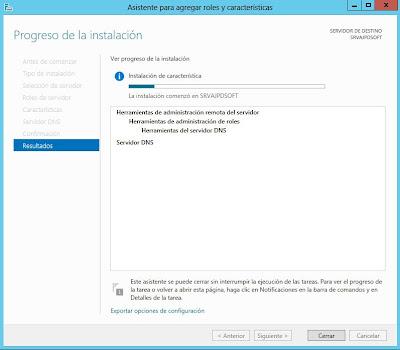 Instalar rol de Sevidor de DNS en Windows Server 2012