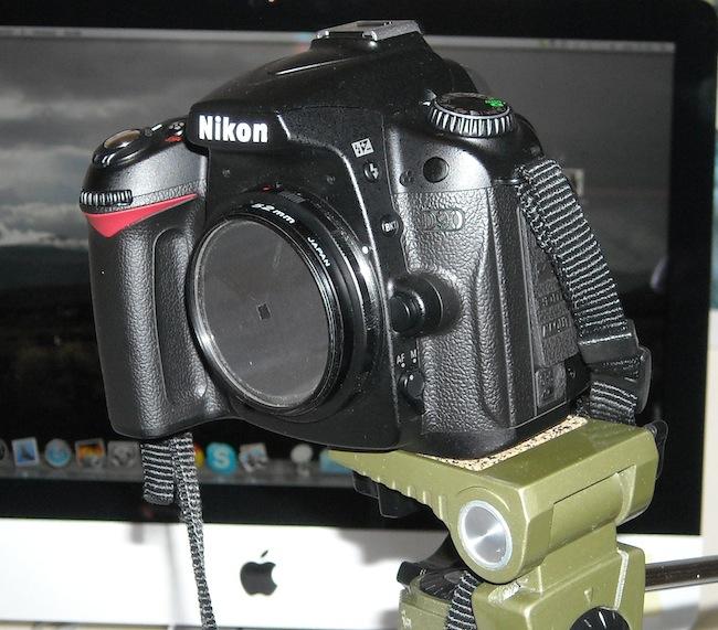 Sistema de anclaje 2º montado sobre Nikon D90