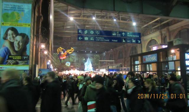 蘇黎世中央火車站(Zurich HB)站內大廳一景
