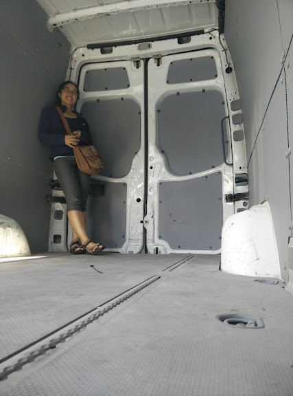 A blank canvas - the interior of our Sprinter 2008