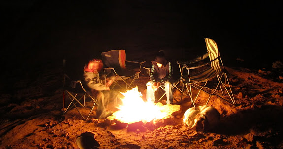 'Round the fire on Saturday evening