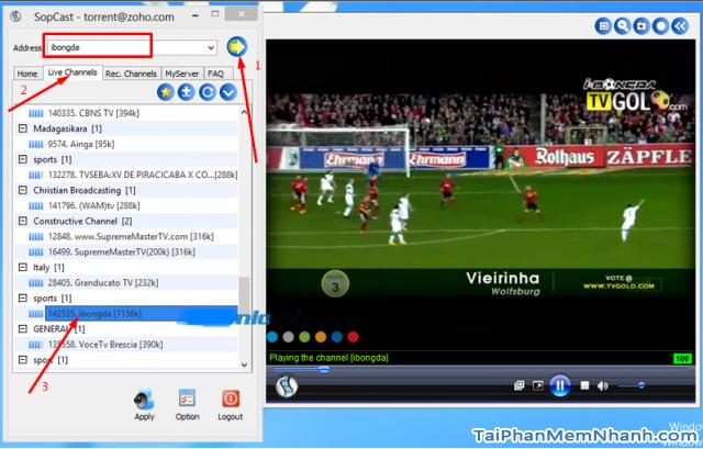 xem bóng đá trực tuyến với sopcast