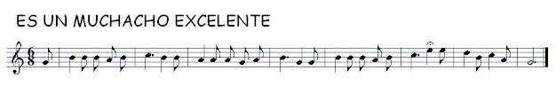 partitura infantil popular tradicional Porque es un muchacho excelente para saxofón, flauta, trompeta, violín, viola, chelo, trombón, tuba, soprano, sax tenor, bombardino y partituras en las tres claves, clave de fa, do y sol Pincha en la partitura