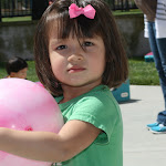LePort Montessori Preschool Toddler Program Irvine San Marino girl holding a ball in the playground