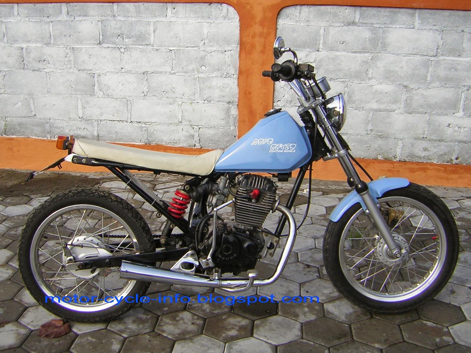 Kawasaki Blitz Modifikasi Trail
