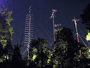 144 MHz, 50 MHz & microwave towers @ night