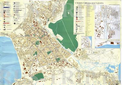 Карту Магадана Скачать