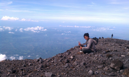 Mahameru, the peak of Mount Semeru