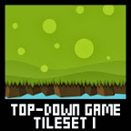 Top down game tileset 1