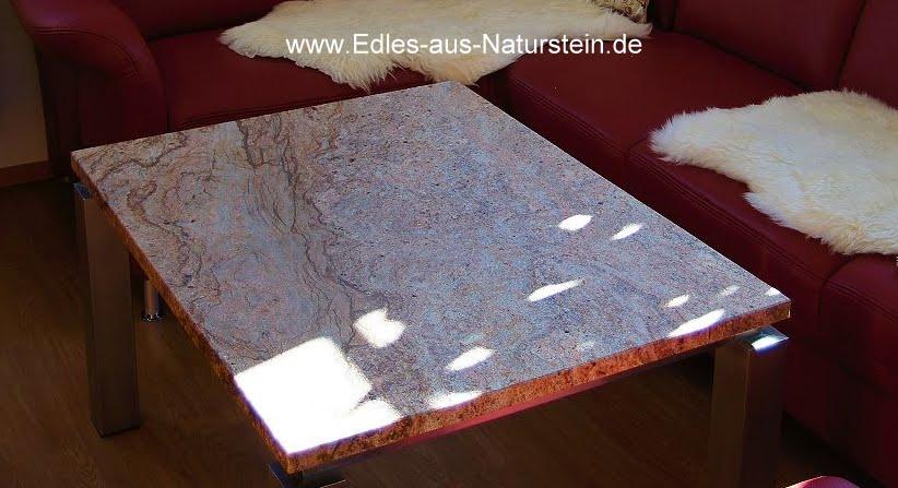 Moderner couchtisch tischplatte naturstein antik gestell for Couchtisch untergestell