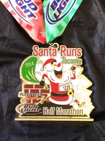 2014 Tacoma Santa Run Donner and Blitzen Half Marathon medal