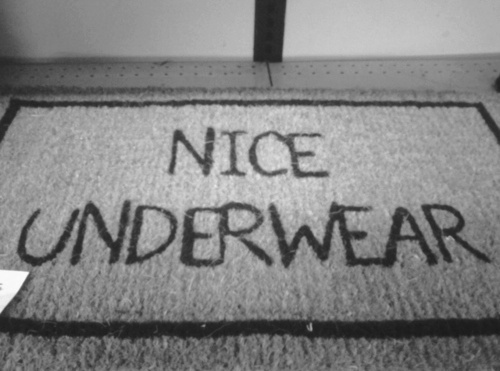 Nice Underwear Doormat